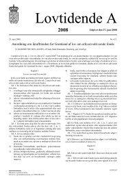 Anordning om ikrafttræden for Grønland af lov ... - Erhvervsstyrelsen