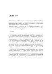 Ohms lov - dirac