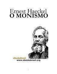 Ernest Haeckel - O Monismo  2002