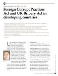 Foreign Corrupt Practices Act and UK Bribery Act in developing countries - Page 2