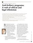 Anti-bribery programs: A web of ethical and legal dilemmas - Page 2