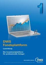 DWS Fondsplattform - Finanzberatung Stefan Benkert