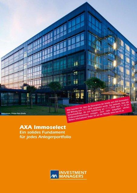 AXA Immoselect - Finanzberatung Stefan Benkert