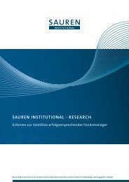 SAUREN INSTITUTIONAL - RESEARch Kriterien zur Selektion ...