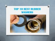 TOP 10 BEST RUBBER WASHERS