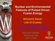 p (3.02 MeV) - Fusion Technology Institute - University of Wisconsin ...