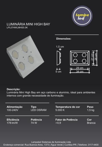 Luminaria Mini High Bay