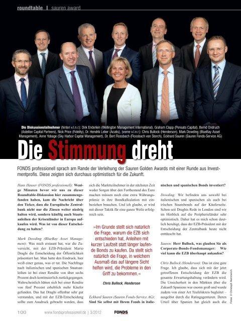 """FONDS professionell: """"Die Stimmung dreht"""" - Sauren"""