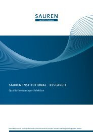 SAUREN INSTITUTIONAL - RESEARch Qualitative Manager ...