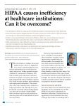 HIPAA causes inefficiency  at healthcare institutions: Can it be overcome? By Robin Singh - Page 2