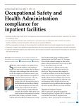 Occupational Safety and Health Administration compliance for inpatient facilities by Robin Singh - Page 2