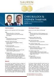 Fondsmanager-Rating: Chris Bullock & Stephen Thariyan - Sauren