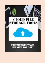 7 Cloud File Storage Tools