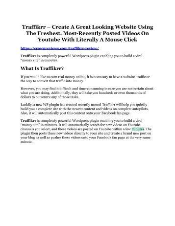 Traffikrr review & Traffikrr $22,600 bonus-discount