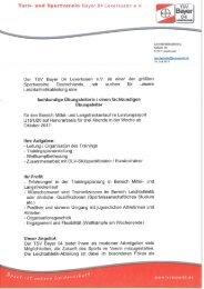 Ausschreibung Trainersuche TSV Bayer 04 Leverkusen
