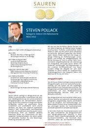Fondsmanager-Rating: Steven Pollack - Sauren