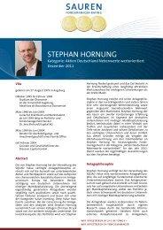 Fondsmanager-Rating: Stephan Hornung - Sauren