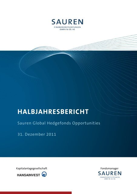 HALBJAHRESBERICHT - Sauren
