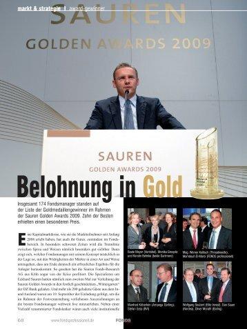 Belohnung in Gold - Sauren