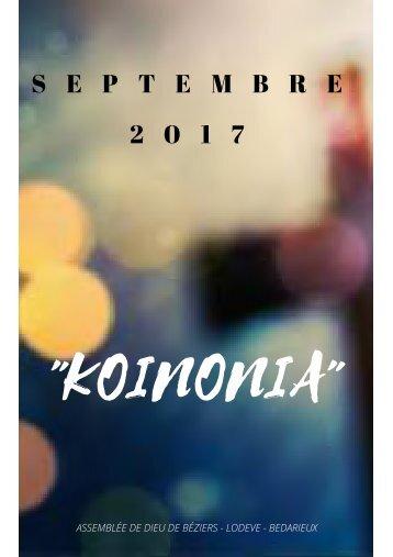 1. KOINONIA. (Septembre 2017)