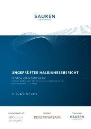 UNGEPRÜFTER HALBJAHRESBERICHT - Sauren