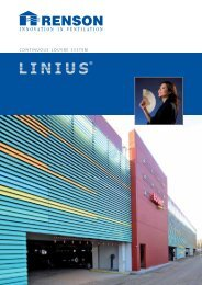 Linius Continuous Louvre System - RIBA Product Selector