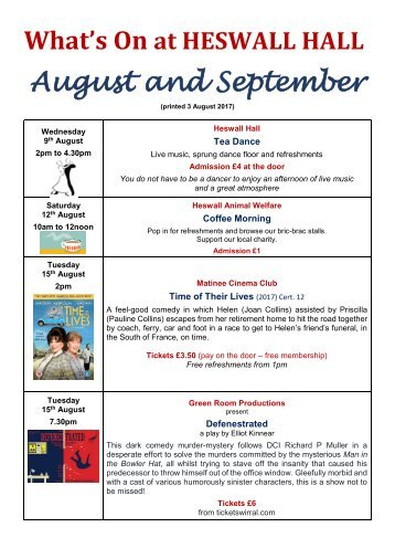 What's On - August-September 17 online