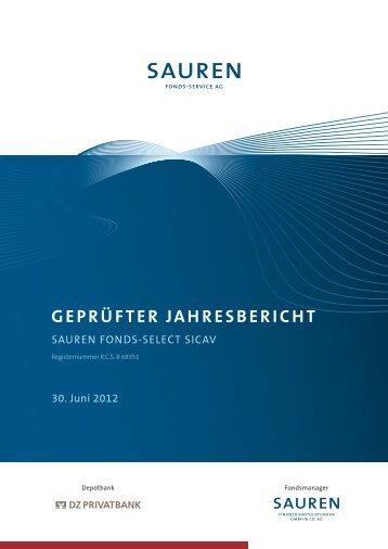 GEPRÜFTER JAHRESBERICHT - Sauren
