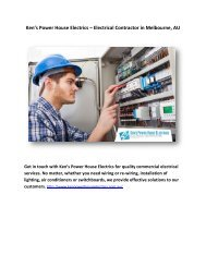 Ken's Power House Electrics – Electrical Contractor in Melbourne, AU