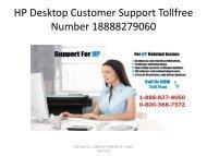 HP Desktop Customer Support number 18888279060