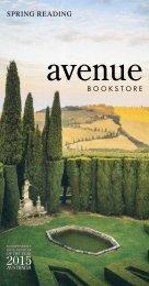 Avenue Bookstore Spring Reading Guide 2017