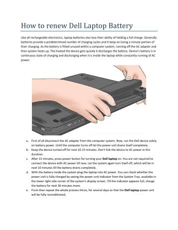 How to renew Dell Laptop Battery
