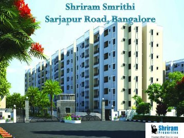 Shriram Smrithi - Sarjapur Road, Bangalore | Call: (+91) 7289089451