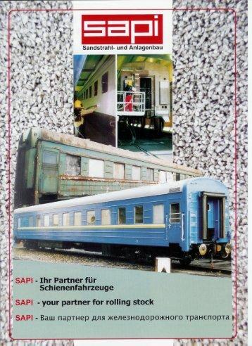 your partner for rolling stock - Sapi Sandstrahl und Anlagenbau GmbH