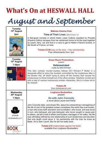 What's On - August-September 17 flipbook