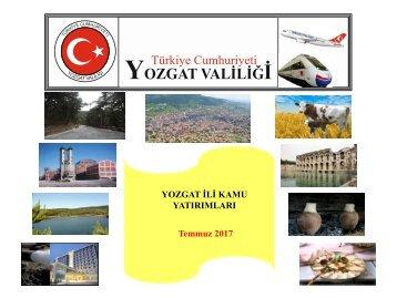 Yozgat-Kamu Yatırımları