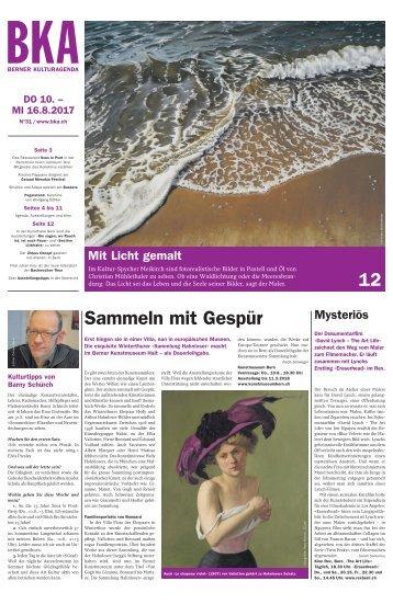 Berner Kulturagenda 2017 N° 31