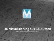 3D Visualisierung aus CAD Daten