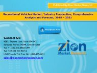 Global Recreational Vehicles Market Size, 2015–2021