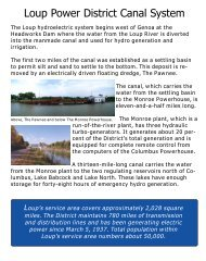Loup Project Summary - Loup Power District
