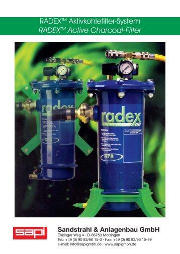 RADEXTM Active Charcoal-Filter - Sapi Sandstrahl und Anlagenbau ...