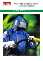 Schutzmaske Astro E - Sapi Sandstrahl und Anlagenbau GmbH