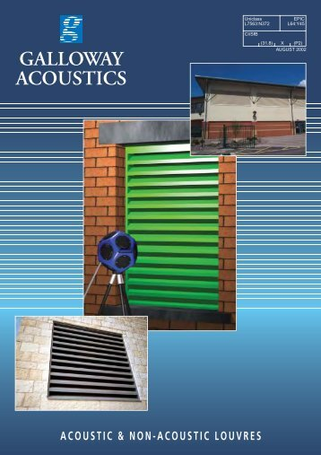 acoustic & non-acoustic louvres galloway acoustics