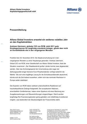 Allianz Global Investors erwartet ein weiteres ... - Das Investment