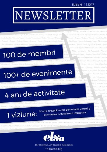 Newsletter ELSA Târgu Mureş Nr. 1