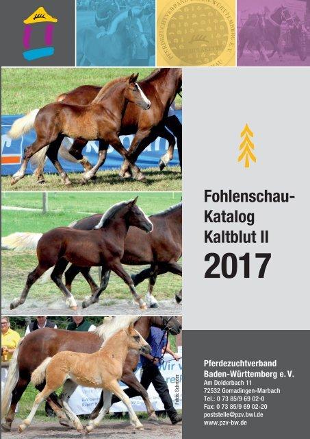 Fohlenschaukatalog Kaltblut II 2017