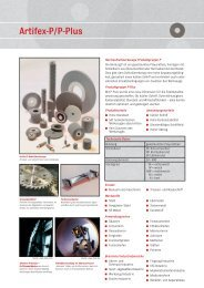ARTIFEX - Normschleifwerkzeuge Produktgruppe P - Buvac