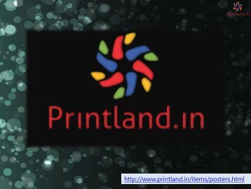 Poster Making - Posters Printing Online in India