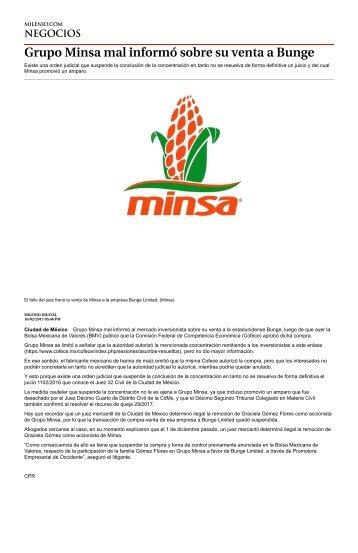 Aparte de Gandallas y Ratas los Gomez Flores de GIG desarrollos Salieron Hocicones y Mentiros, Grupo Minsa mal informó sobre su venta a la Estadounidense Bunge que ignoraba las tranzas de tlajomulco