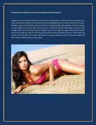 Chennai Escorts Explore the services that people constantly want for